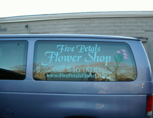 Five Petals Flower Shop Van